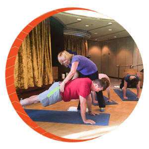 Conni is teaching Pilates